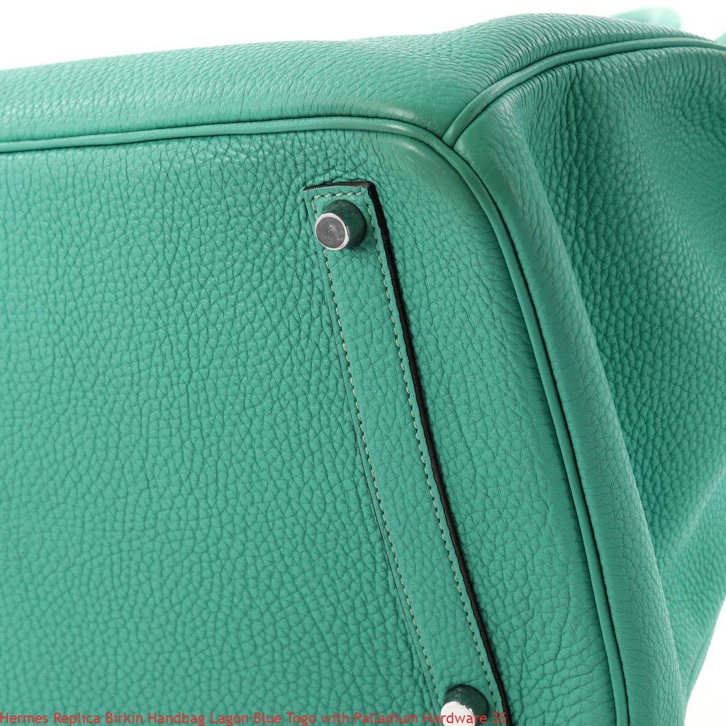 Hermes Replica Birkin Handbag Lagon Blue Togo with Palladium Hardware 35 b26fce5803760