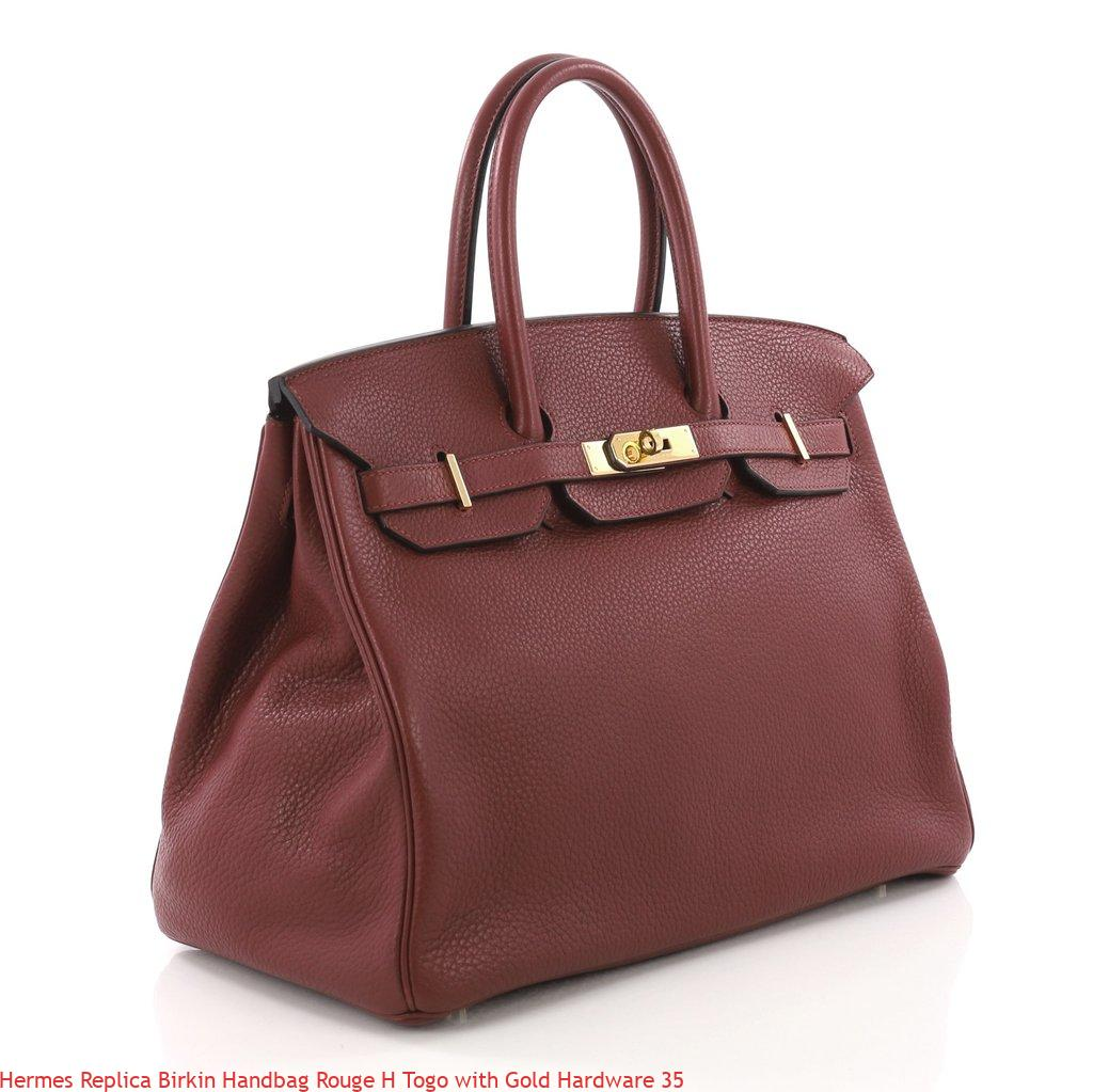 53e0e0a71a Hermes Replica Birkin Handbag Rouge H Togo with Gold Hardware 35 – Replica  Hermes Handbags .