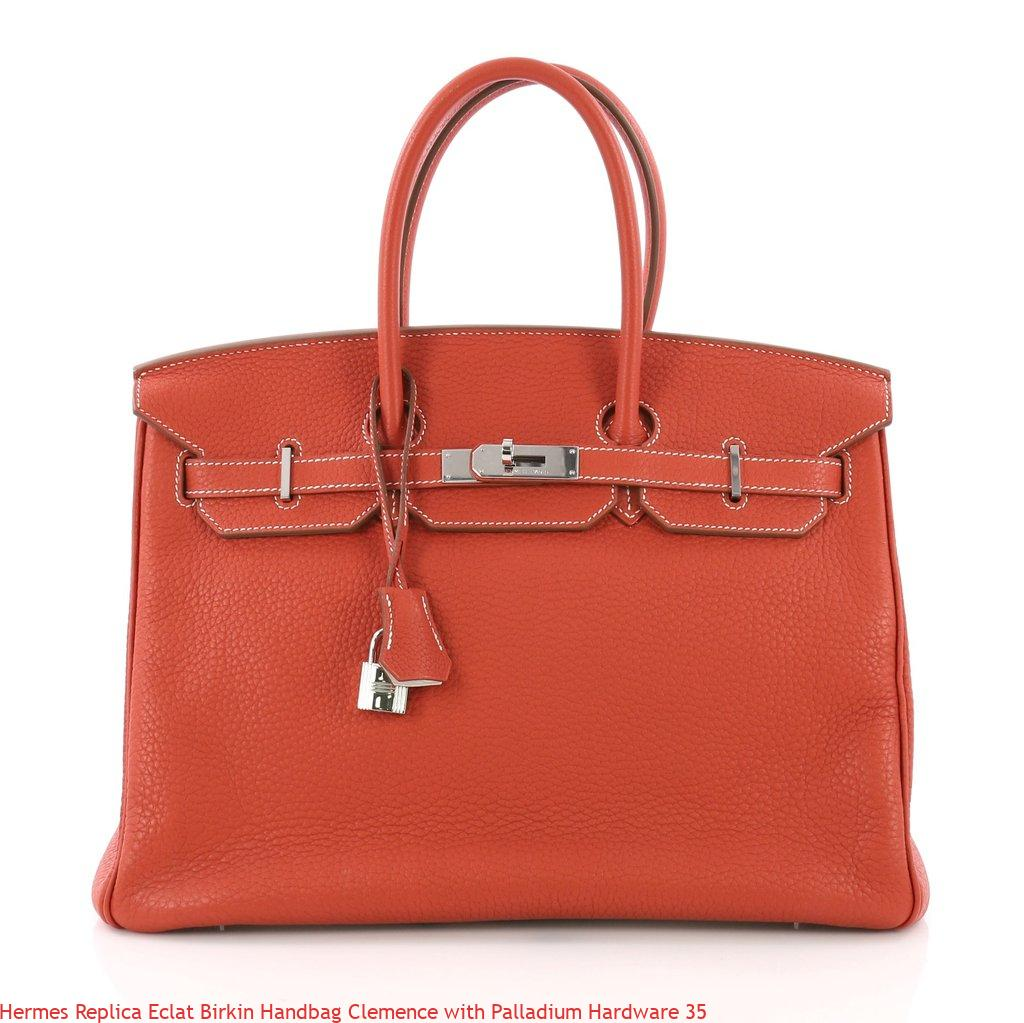 cdbb22b973d Hermes Replica Eclat Birkin Handbag Clemence With Palladium Hardware