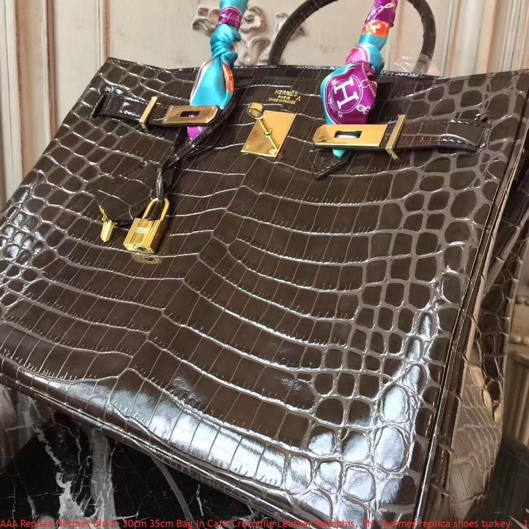 fb28c71a8fc AAA Replica Hermes Birkin 30cm 35cm Bag In Cafe Crocodile Leather ...
