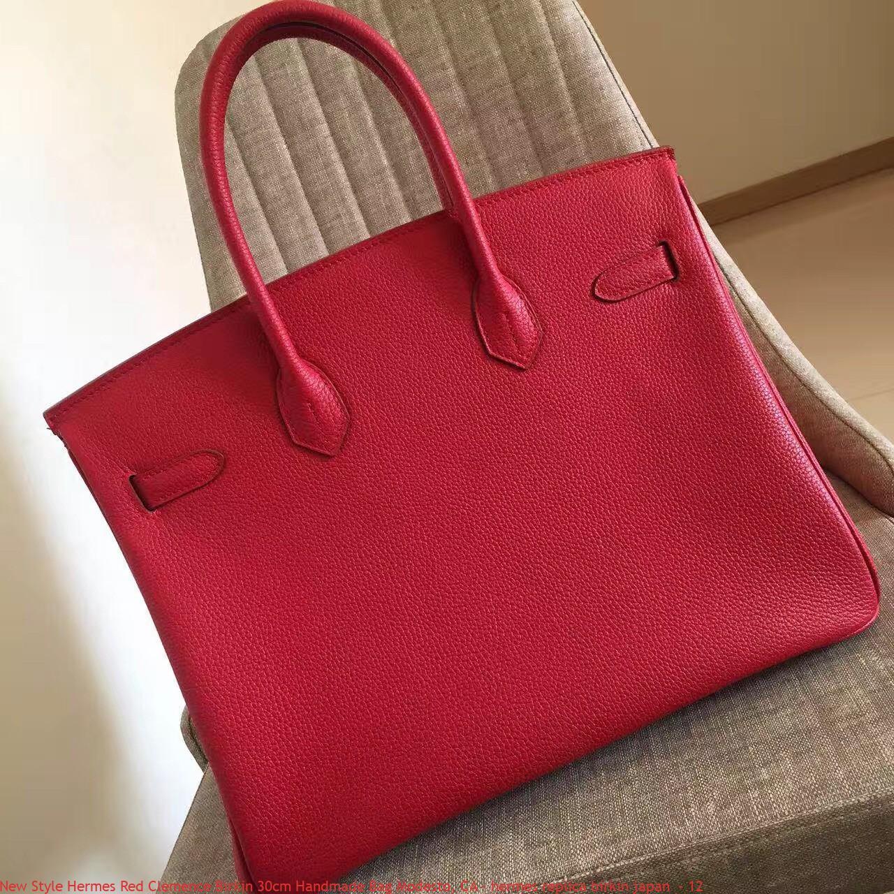 New Style Hermes Red Clemence Birkin 30cm Handmade Bag Modesto d447843af897