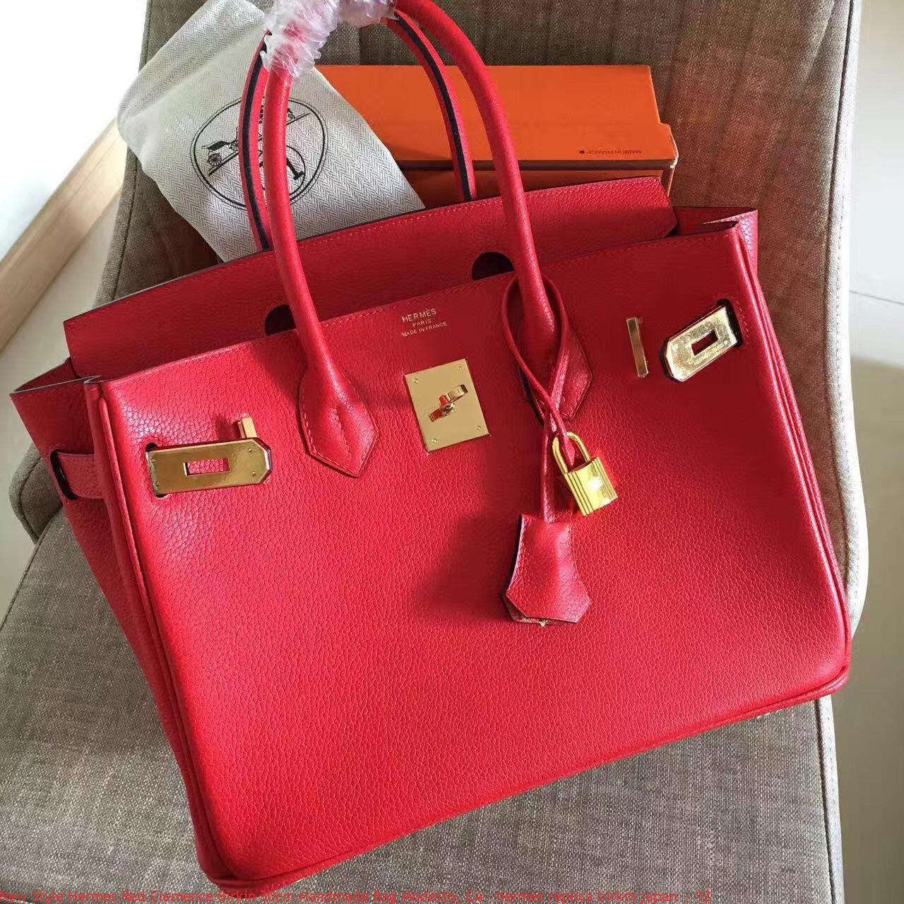 New Style Hermes Red Clemence Birkin 30cm Handmade Bag Modesto f1f463c114a22